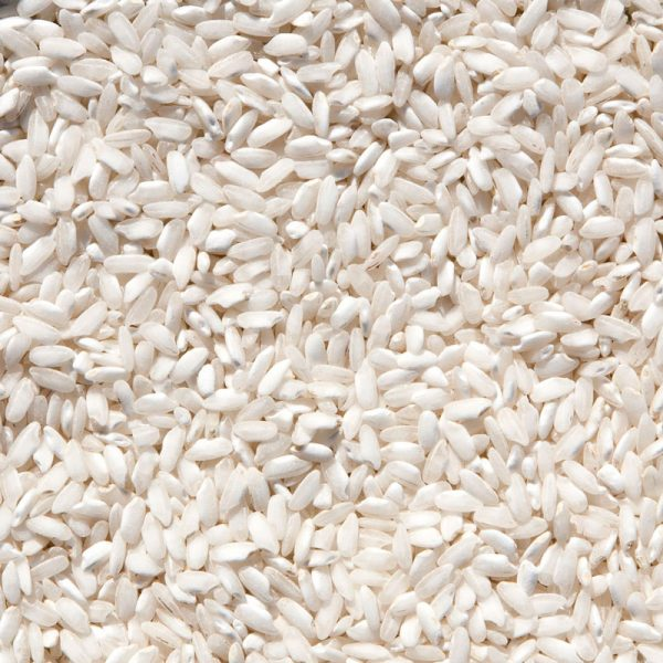 Arroz carnaroli de grano medio y perlado, de tamaño muy grande