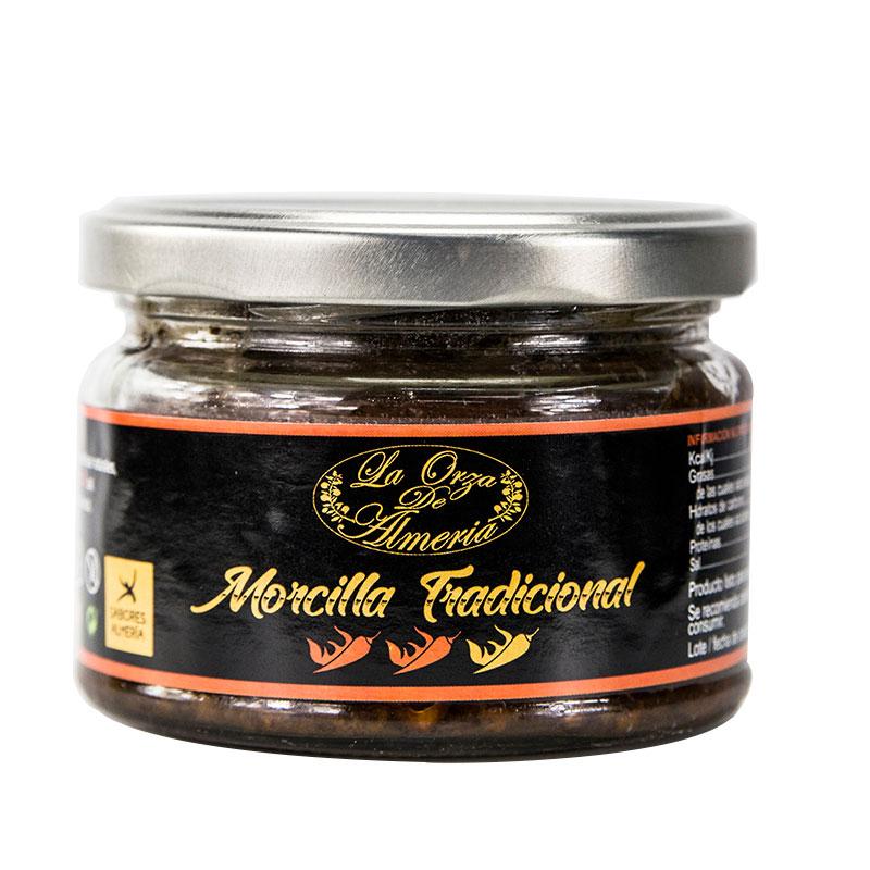 Morcilla tradicional picante. 220 gr.