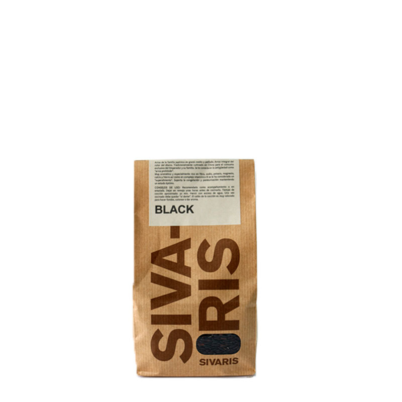 Arroz Black. Saco papel 500 gr.