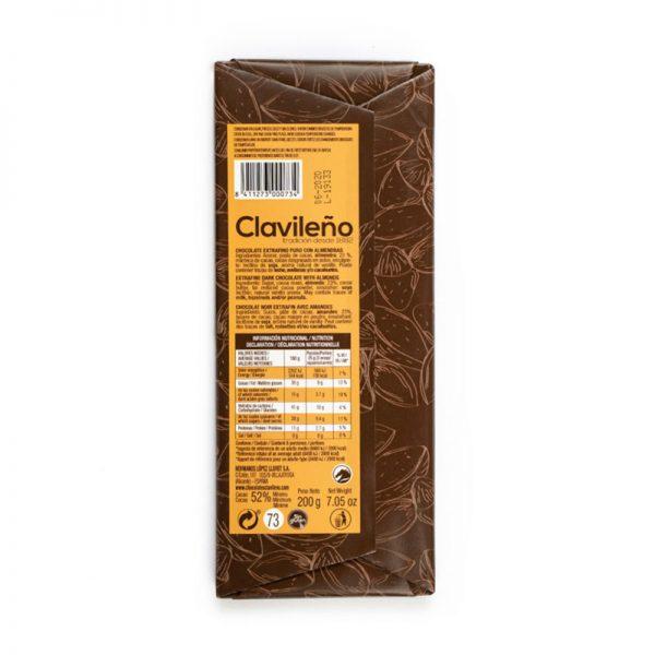 Chocolate Extrafino puro 52% Cacao y almendras