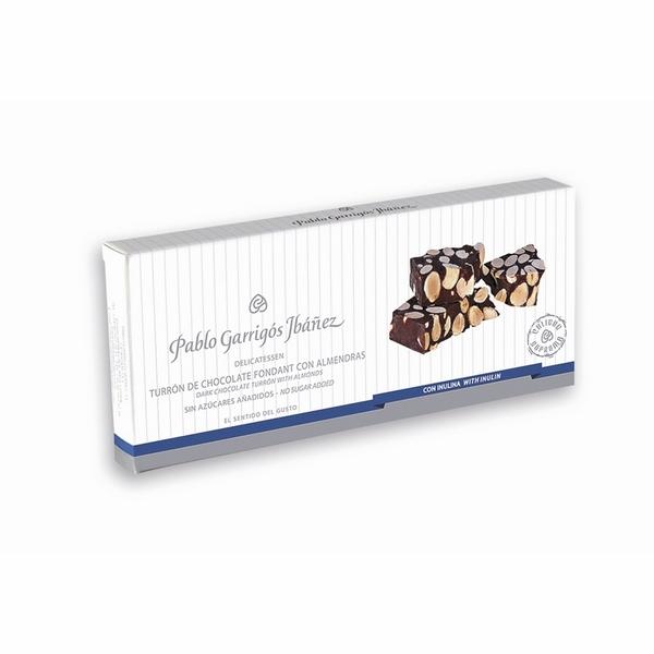 Turrón de Chocolate Fondant con Almendras Sin Azúcares añadidos