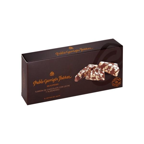 Turrón de Chocolate con Leche y Almendras Delicatessen
