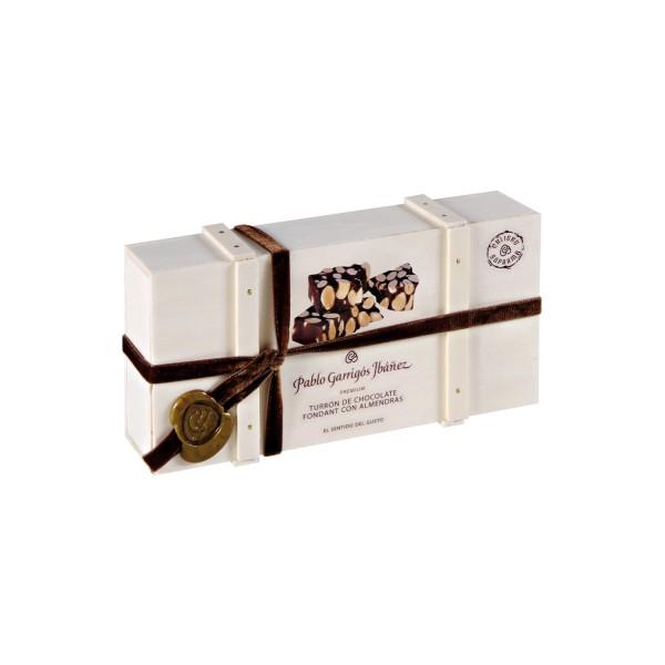 Turrón de Chocolate Fondant con Almendras Premium
