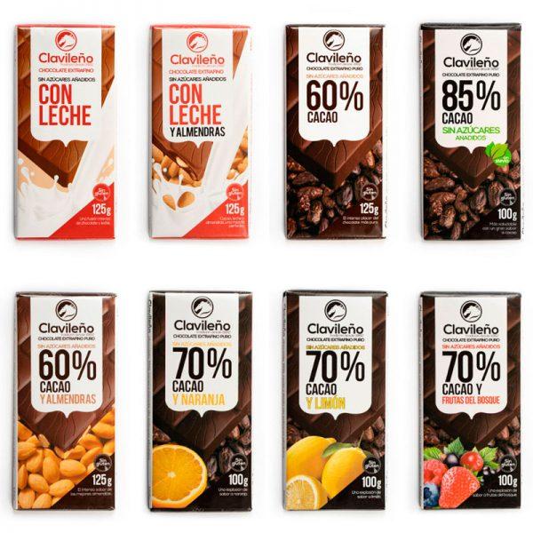 Selección de Chocolates sin azúcares añadidos