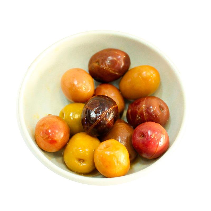 Aceitunas Morada Rayada