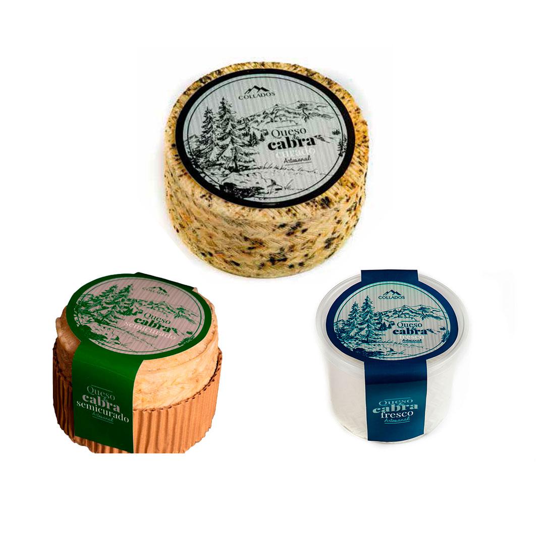 Selección quesos de artesanales de cabra del Altiplano Granadino de 1 kg. aprox.