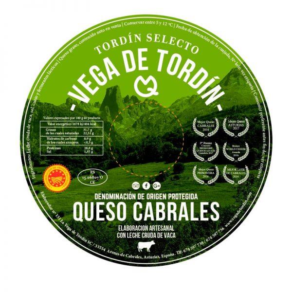 Queso Selecto Cabrales DOP Vega de Tordín