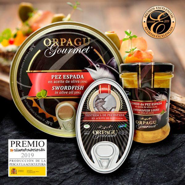 conservas de pez espada en aciete de oliva ORPAGU