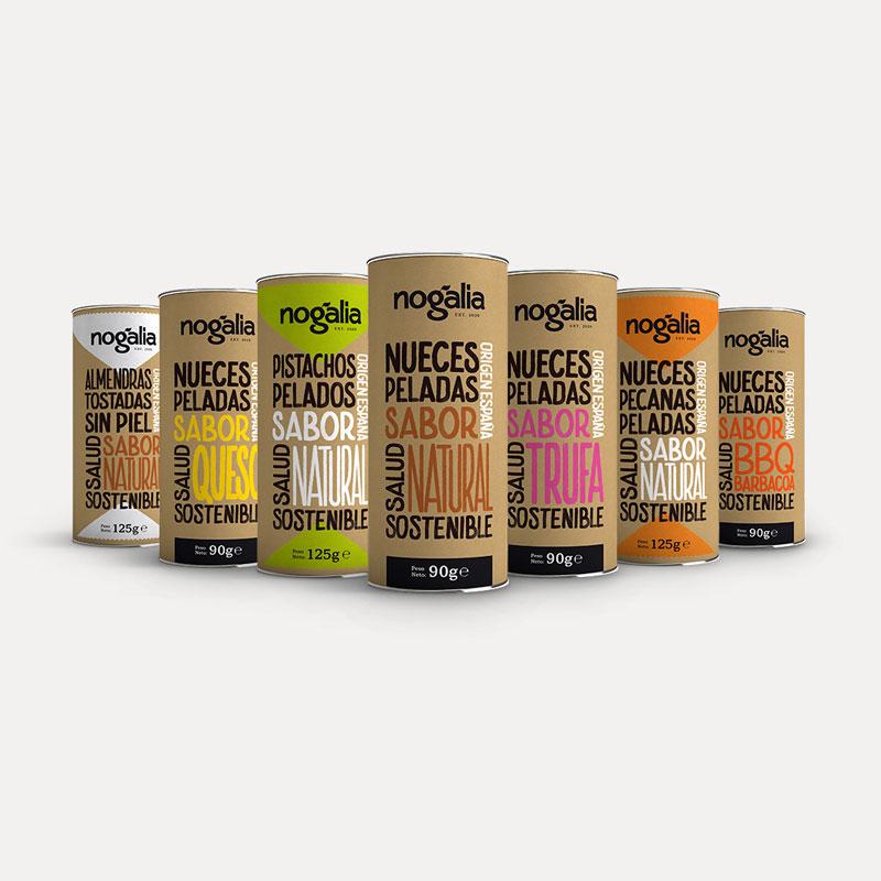 Selección de frutos secos en tubo «Nogalia»
