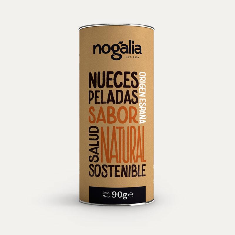 Nuez pelada natural en tubo de 90 g.