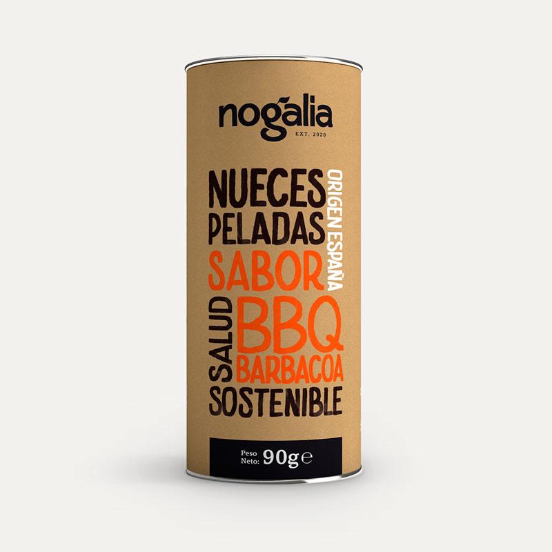 Nuez pelada sabor barbacoa en tubo de 90 g.