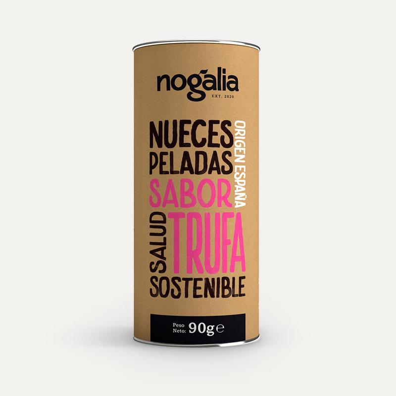 Nuez pelada sabor trufa en tubo de 90 g.